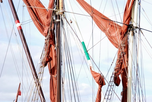 Thames barge rigging River Blackwater Essex