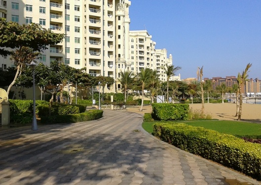 The beach at Palm Jumeirah - access is just a passport copy away